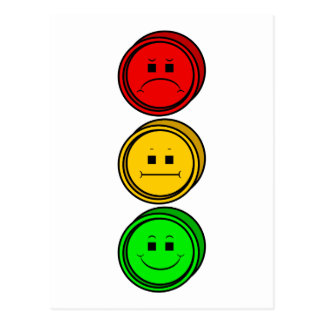 Moody Stoplight Buttons Postcard