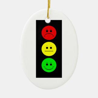 Moody Stoplight Christmas Ornament