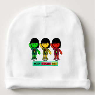 Moody Stoplight Girls in Shorts Baby Beanie