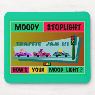 Moody Stoplight Logo Traffic Jam Mouse Mat