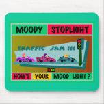 Moody Stoplight Logo Traffic Jam Mouse Pad