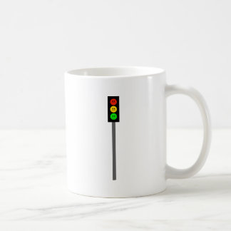 Moody Stoplight on Pole Coffee Mug