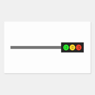 Moody Stoplight on Pole Rectangular Sticker