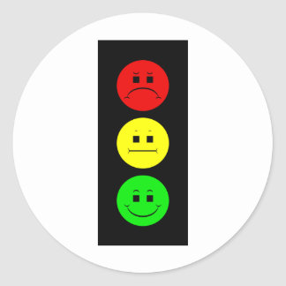Moody Stoplight Round Sticker