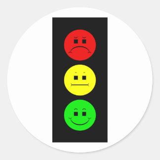 Moody Stoplight Classic Round Sticker