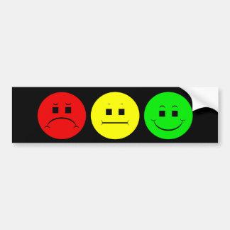 Moody Stoplight Trio Car Bumper Sticker