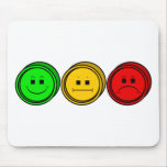 Moody Stoplight Trio Buttons Mousepad