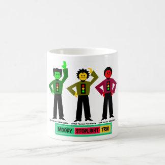 Moody Stoplight Trio Characters Coffee Mug