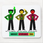 Moody Stoplight Trio Characters Mouse Pads