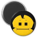 Moody Stoplight Trio Charlie Yellobellow Face 6 Cm Round Magnet