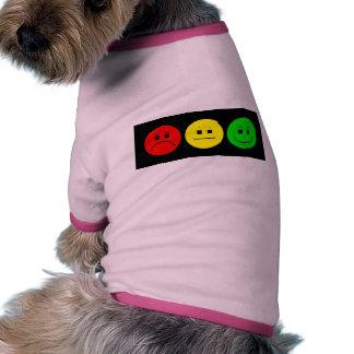 Moody Stoplight Trio Dog T-shirt