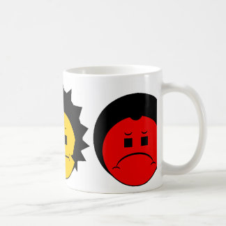 Moody Stoplight Trio Faces Coffee Mug