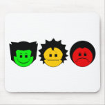 Moody Stoplight Trio Faces Mousepads