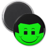 Moody Stoplight Trio Gordy Greenfalloon Face 6 Cm Round Magnet