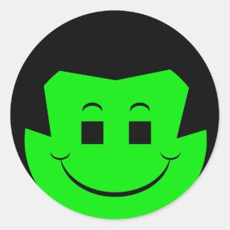 Moody Stoplight Trio Gordy Greenfalloon Face Round Sticker