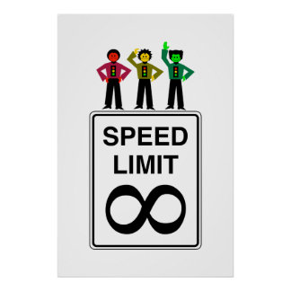Moody Stoplight Trio Infinite Speed Limit Poster