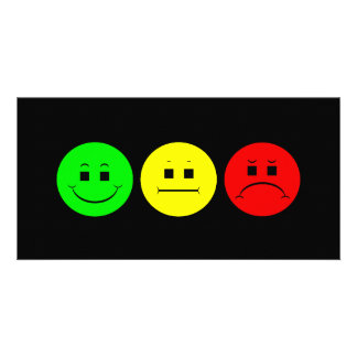 Moody Stoplight Trio Lefty Green Photo Card Template