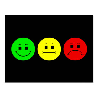 Moody Stoplight Trio Lefty Green Postcard
