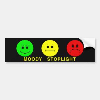Moody Stoplight Trio Lefty Green with Caption Car Bumper Sticker