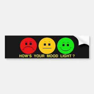 Moody Stoplight Trio Mood Light Car Bumper Sticker