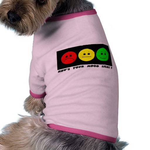 Moody Stoplight Trio Mood Light Doggie Tshirt
