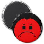 Moody Stoplight Trio Ron Buckstopper Face 6 Cm Round Magnet