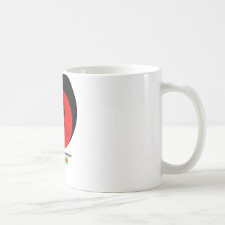 Moody Stoplight Trio Ron Buckstopper Face w Label Basic White Mug