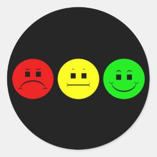 Moody Stoplight Trio Round Sticker