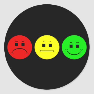 Moody Stoplight Trio Classic Round Sticker