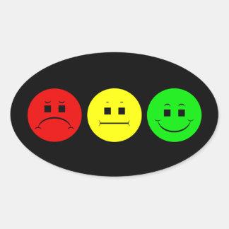 Moody Stoplight Trio Oval Sticker