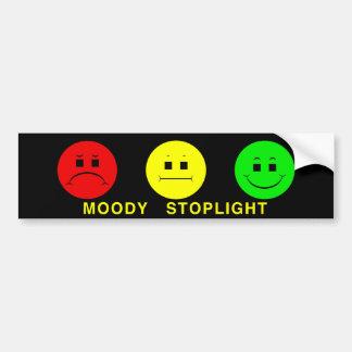 Moody Stoplight Trio with Caption Car Bumper Sticker