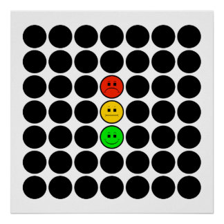 Moody Stoplight w Black Dots Poster