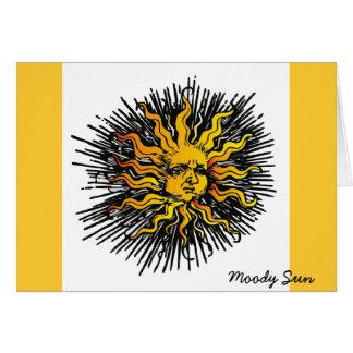 Moody Sun Greeting Card