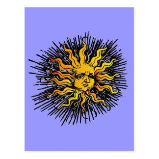 Moody Sun Postcard