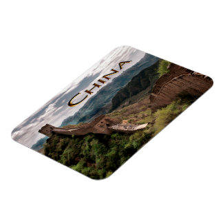Moody View of The Great Wall of China Rectangular Magnet