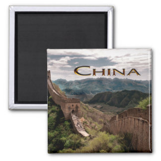 Moody View of The Great Wall of China Magnets