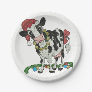 Mooey Christmas! Cow-Themed Christmas Party Plates