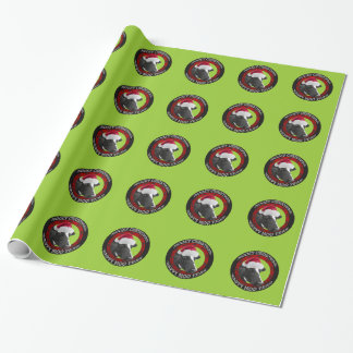 Mooey Christmas Happy Moo Year Santa Hat Cow Wrapping Paper