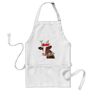 Mooey Merry Christmas Reindeer Cow Aprons