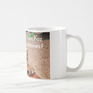 Mooki lolcat Mug, i can haz caffeinez? Coffee Mug