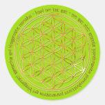 Moola Mantra / Blume Des Lebens / greenlight BG Runde Sticker