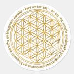 Moola Mantra / Blume Des Lebens Runde Aufkleber