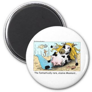 Moomaid Funny Cow Cartoon Gifts Tees Collectibles 6 Cm Round Magnet