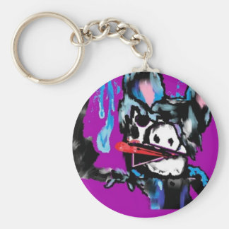 MooMoo Emo Cow key Chain