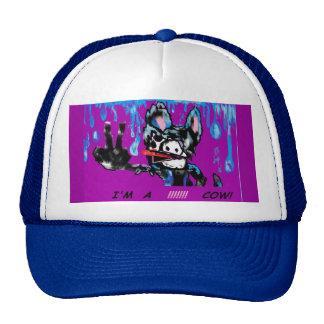 MooMoo the Emo Cow I m a Cow Cartoon Cow Emo Trucker Hats