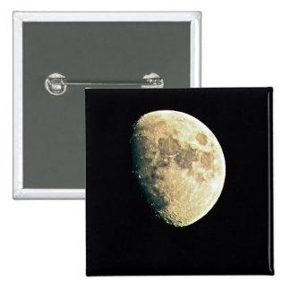 Moon 15 Cm Square Badge
