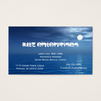 Moon 1 business card