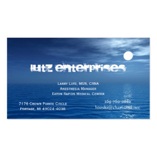 Moon 1 pack of standard business cards
