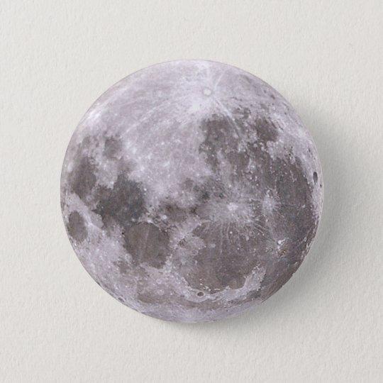 moon 6 cm round badge