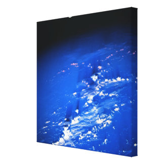 Moon above Earth Gallery Wrap Canvas